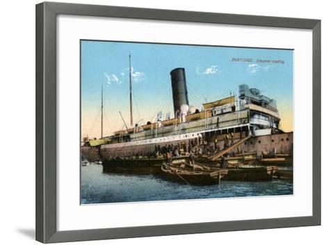 Steamer Coaling, Port Said, Egypt, 20th Century--Framed Art Print