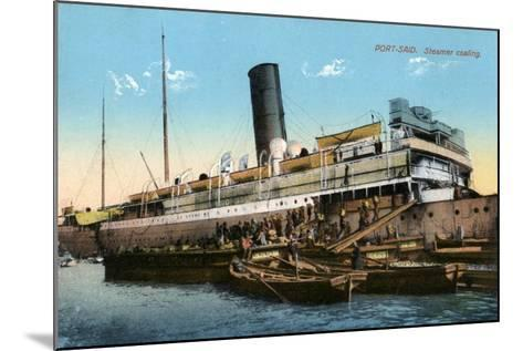 Steamer Coaling, Port Said, Egypt, 20th Century--Mounted Giclee Print