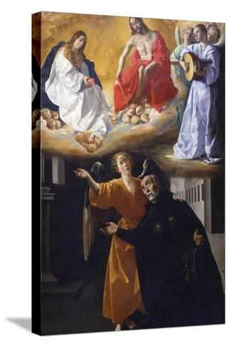 The Vision of Saint Alphonsus Rodr?guez-Francisco de Zurbar?n-Stretched Canvas Print