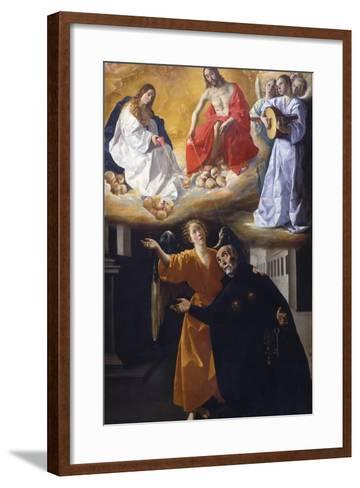 The Vision of Saint Alphonsus Rodr?guez-Francisco de Zurbar?n-Framed Art Print
