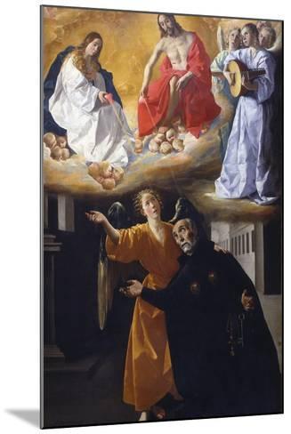 The Vision of Saint Alphonsus Rodr?guez-Francisco de Zurbar?n-Mounted Giclee Print