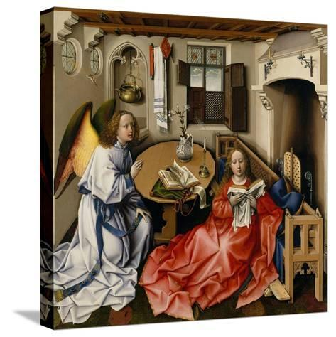 The Annunciation (M?rode Altarpiec), Ca 1428-1432-Robert Campin-Stretched Canvas Print
