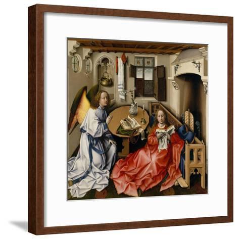 The Annunciation (M?rode Altarpiec), Ca 1428-1432-Robert Campin-Framed Art Print