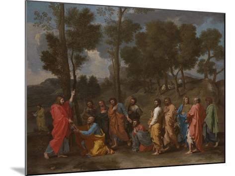 The Sacrament of Ordination (Christ Presenting the Keys to Saint Pete)-Nicolas Poussin-Mounted Giclee Print