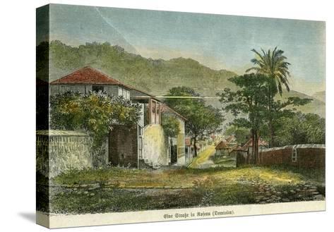 A Street in Roseau, Dominica, C1880- Pann-Stretched Canvas Print