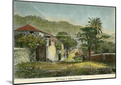 A Street in Roseau, Dominica, C1880- Pann-Mounted Giclee Print