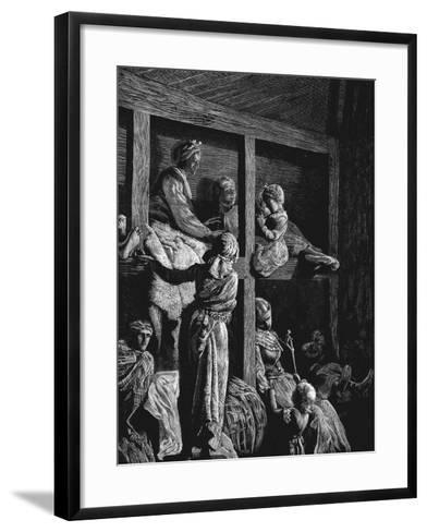 British Emigrants on their Way to America, 1870--Framed Art Print