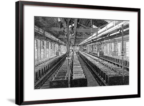 Manufacture of Electric Batteries, USA, 1887--Framed Art Print