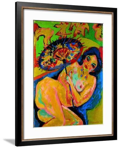 Girl under a Japanese Umbrella, C. 1909-Ernst Ludwig Kirchner-Framed Art Print