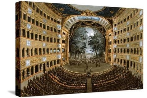 View of the Interior of the Teatro San Carlo, Naples, 19th Century--Stretched Canvas Print