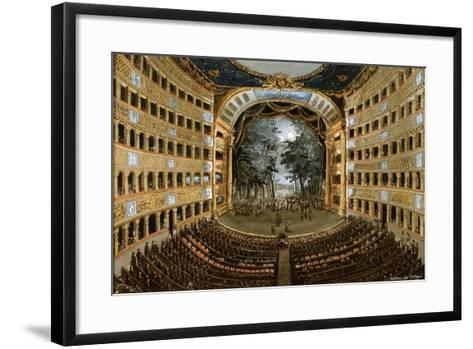 View of the Interior of the Teatro San Carlo, Naples, 19th Century--Framed Art Print