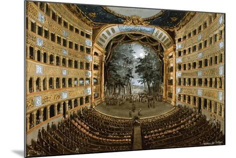 View of the Interior of the Teatro San Carlo, Naples, 19th Century--Mounted Giclee Print