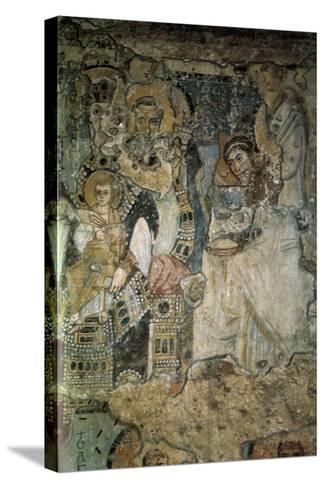 The Annunciation (Fresco in Santa Maria Antiqu), 565-578--Stretched Canvas Print