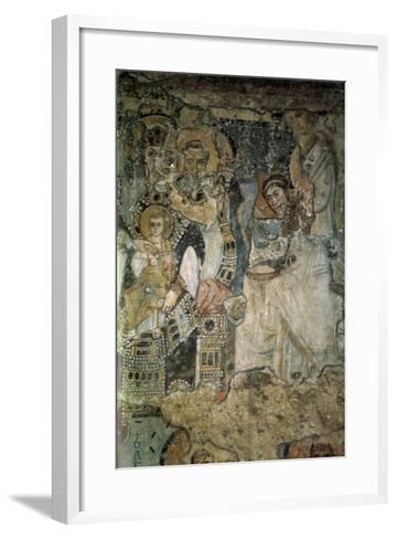 The Annunciation (Fresco in Santa Maria Antiqu), 565-578--Framed Art Print