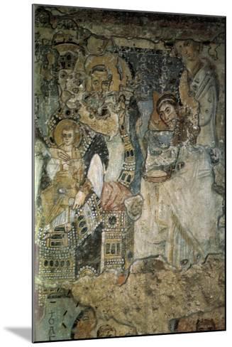 The Annunciation (Fresco in Santa Maria Antiqu), 565-578--Mounted Giclee Print