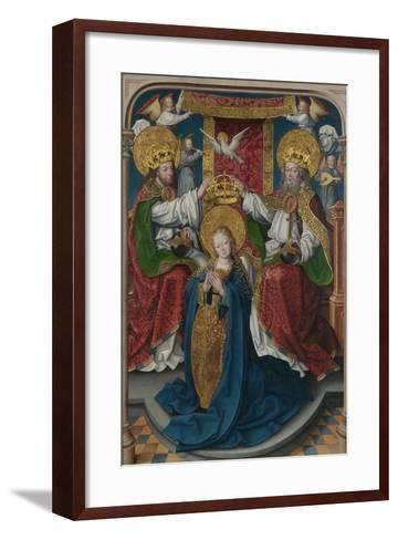 The Coronation of the Virgin (The Liesborn Altarpiec), C. 1520-Jan Baegert-Framed Art Print
