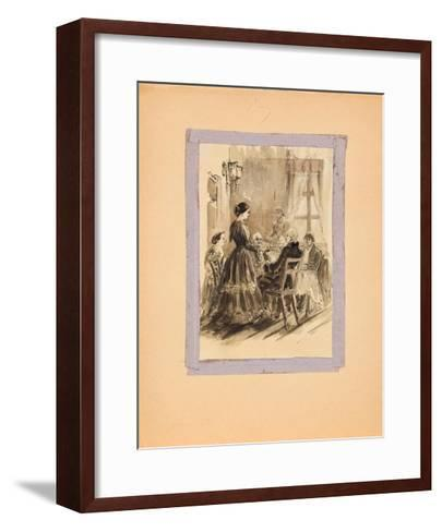 Illustration for the Journey from St. Petersburg to Moscow by Alexander Radishchev, 1940S--Framed Art Print