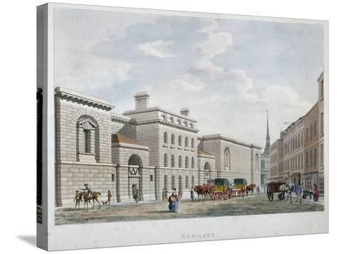 Newgate Prison, Old Bailey, City of London, 1799--Stretched Canvas Print