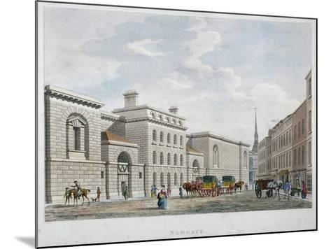 Newgate Prison, Old Bailey, City of London, 1799--Mounted Giclee Print