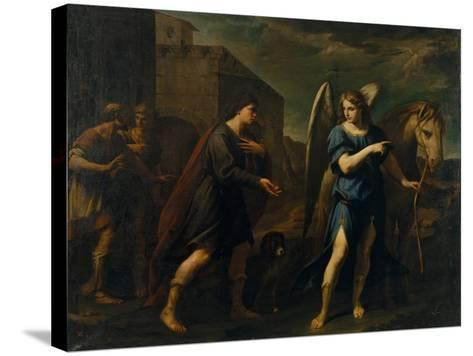 Tobias Meets the Archangel Raphael, C. 1640-Andrea Vaccaro-Stretched Canvas Print
