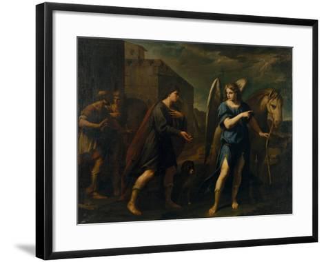 Tobias Meets the Archangel Raphael, C. 1640-Andrea Vaccaro-Framed Art Print