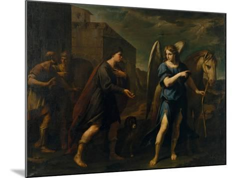 Tobias Meets the Archangel Raphael, C. 1640-Andrea Vaccaro-Mounted Giclee Print