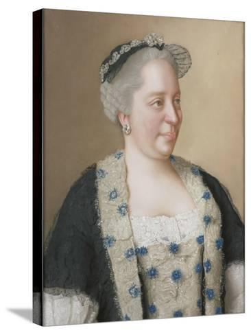 Portrait of Empress Maria Theresia of Austria (1717-178), 1762-Jean-?tienne Liotard-Stretched Canvas Print