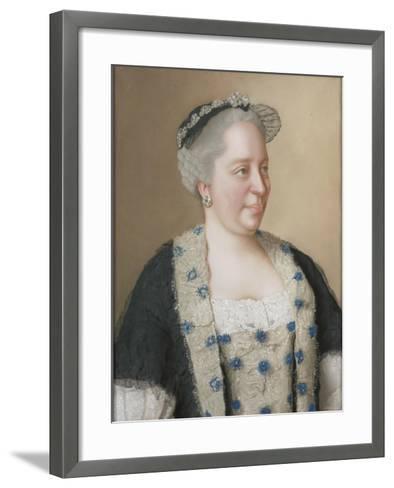 Portrait of Empress Maria Theresia of Austria (1717-178), 1762-Jean-?tienne Liotard-Framed Art Print