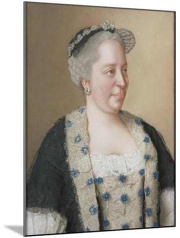 Portrait of Empress Maria Theresia of Austria (1717-178), 1762-Jean-?tienne Liotard-Mounted Giclee Print
