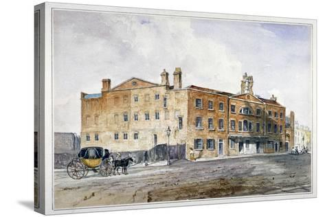 Premises of George March, Licensed Rectifier, in Cobham Row, Holborn, London, C1830--Stretched Canvas Print