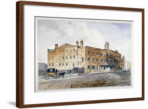 Premises of George March, Licensed Rectifier, in Cobham Row, Holborn, London, C1830--Framed Art Print