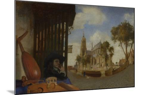 A View of Delft, with a Musical Instrument Seller's Stall, 1652-Carel Fabritius-Mounted Giclee Print