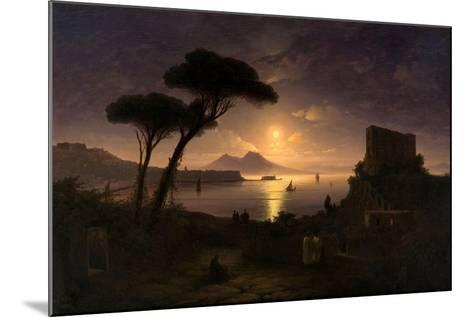 The Bay of Naples at Moonlit Night, 1842-Ivan Konstantinovich Aivazovsky-Mounted Giclee Print
