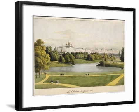 The Catherine Palace in Tsarskoye Selo, 1821-1822-Andrei Yefimovich Martynov-Framed Art Print