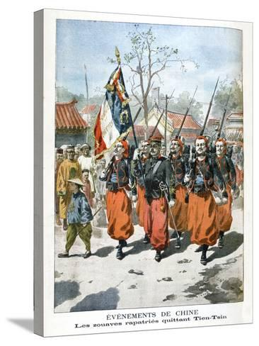Events in China, French Troops Departing Tien-Tsin, 1901--Stretched Canvas Print