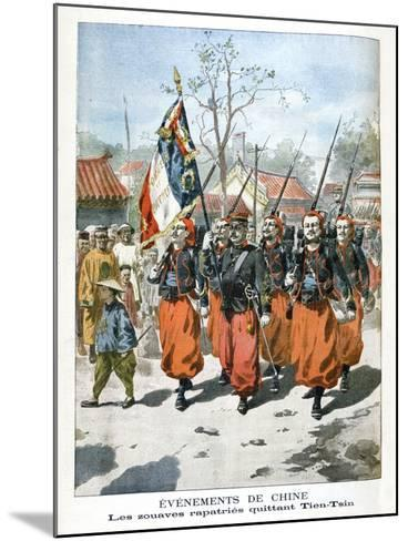 Events in China, French Troops Departing Tien-Tsin, 1901--Mounted Giclee Print