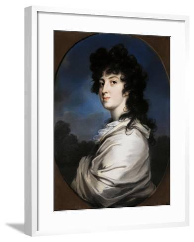 Portrait of Yekaterina Bakunina, C. 1810--Framed Art Print