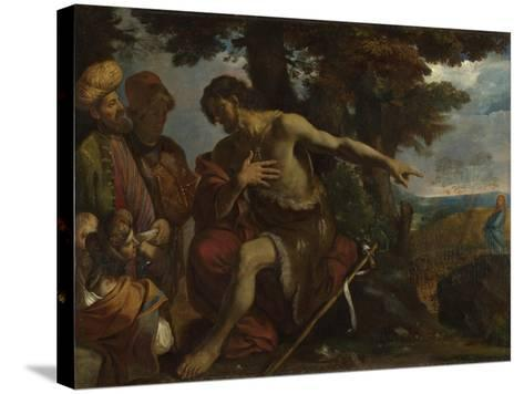 Saint John the Baptist Preaching in the Wilderness, C. 1640-Pier Francesco Mola-Stretched Canvas Print