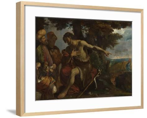 Saint John the Baptist Preaching in the Wilderness, C. 1640-Pier Francesco Mola-Framed Art Print