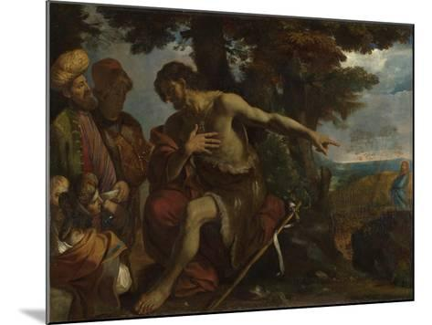 Saint John the Baptist Preaching in the Wilderness, C. 1640-Pier Francesco Mola-Mounted Giclee Print