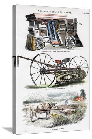 Agricultural Implements, 19th Century--Stretched Canvas Print