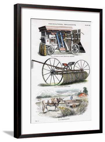 Agricultural Implements, 19th Century--Framed Art Print