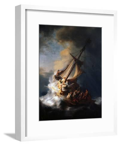 Christ in the Storm on the Lake of Galilee, 1633-Rembrandt van Rijn-Framed Art Print