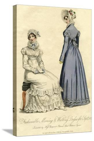 Fashionable Morning and Walking Dresses from September 1823--Stretched Canvas Print