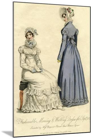 Fashionable Morning and Walking Dresses from September 1823--Mounted Giclee Print