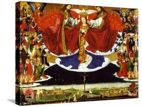The Coronation of the Virgin, 1454-Enguerrand Quarton-Stretched Canvas Print