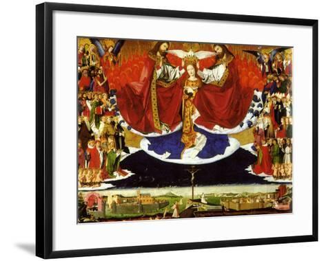 The Coronation of the Virgin, 1454-Enguerrand Quarton-Framed Art Print