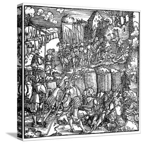 Siege of a Fortress, 1532-Hans Holbein the Younger-Stretched Canvas Print