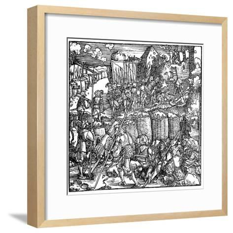 Siege of a Fortress, 1532-Hans Holbein the Younger-Framed Art Print