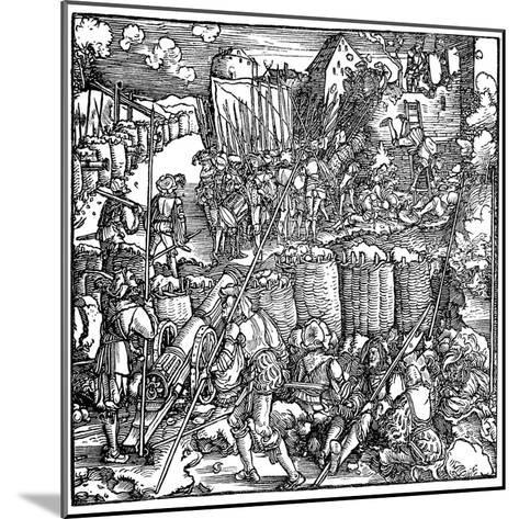 Siege of a Fortress, 1532-Hans Holbein the Younger-Mounted Giclee Print